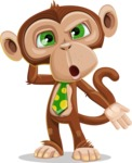 Ape Businessman Cartoon Vector Character AKA Bizzo - Confused