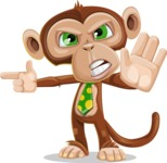 Ape Businessman Cartoon Vector Character AKA Bizzo - Direct Attention