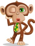 Ape Businessman Cartoon Vector Character AKA Bizzo - Duckface