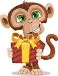 Ape Businessman Cartoon Vector Character AKA Bizzo - Gift