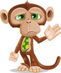 Ape Businessman Cartoon Vector Character AKA Bizzo - Goodbye