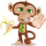 Ape Businessman Cartoon Vector Character AKA Bizzo - Hello
