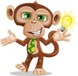 Ape Businessman Cartoon Vector Character AKA Bizzo - Idea 1