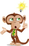 Ape Businessman Cartoon Vector Character AKA Bizzo - Idea 2