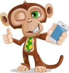 Ape Businessman Cartoon Vector Character AKA Bizzo - iPhone
