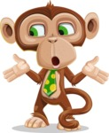 Ape Businessman Cartoon Vector Character AKA Bizzo - Lost