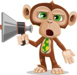 Ape Businessman Cartoon Vector Character AKA Bizzo - Loudspeaker