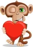 Ape Businessman Cartoon Vector Character AKA Bizzo - Love