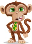 Ape Businessman Cartoon Vector Character AKA Bizzo - Normal