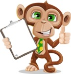 Ape Businessman Cartoon Vector Character AKA Bizzo - Notepad 1