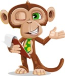 Ape Businessman Cartoon Vector Character AKA Bizzo - Notepad 3