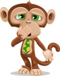 Ape Businessman Cartoon Vector Character AKA Bizzo - Oops
