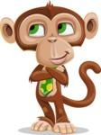 Ape Businessman Cartoon Vector Character AKA Bizzo - Patient