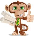 Ape Businessman Cartoon Vector Character AKA Bizzo - Plans