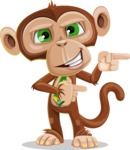 Ape Businessman Cartoon Vector Character AKA Bizzo - Point 2