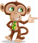 Ape Businessman Cartoon Vector Character AKA Bizzo - Point