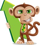 Ape Businessman Cartoon Vector Character AKA Bizzo - Pointer 1
