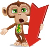 Ape Businessman Cartoon Vector Character AKA Bizzo - Pointer 3