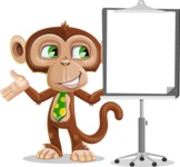 Ape Businessman Cartoon Vector Character AKA Bizzo - Presentation 1