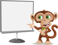 Ape Businessman Cartoon Vector Character AKA Bizzo - Presentation 2