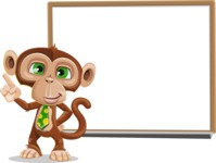 Ape Businessman Cartoon Vector Character AKA Bizzo - Presentation 3