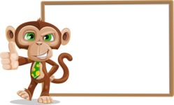 Ape Businessman Cartoon Vector Character AKA Bizzo - Presentation 5