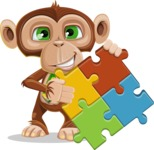 Ape Businessman Cartoon Vector Character AKA Bizzo - Puzzle