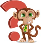 Ape Businessman Cartoon Vector Character AKA Bizzo - Question