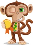 Bizzo the Business Monkey - Ribbon