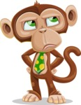 Ape Businessman Cartoon Vector Character AKA Bizzo - Roll Eyes