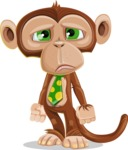 Ape Businessman Cartoon Vector Character AKA Bizzo - Sad