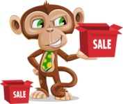 Ape Businessman Cartoon Vector Character AKA Bizzo - Sale