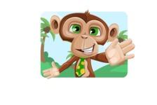 Ape Businessman Cartoon Vector Character AKA Bizzo - Shape 1