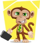 Ape Businessman Cartoon Vector Character AKA Bizzo - Shape 5
