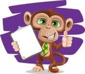 Ape Businessman Cartoon Vector Character AKA Bizzo - Shape 7