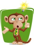 Ape Businessman Cartoon Vector Character AKA Bizzo - Shape 8