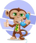 Ape Businessman Cartoon Vector Character AKA Bizzo - Shape 9