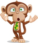 Ape Businessman Cartoon Vector Character AKA Bizzo - Shocked
