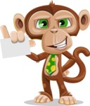 Ape Businessman Cartoon Vector Character AKA Bizzo - Sign 1
