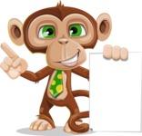 Ape Businessman Cartoon Vector Character AKA Bizzo - Sign 2