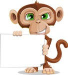 Ape Businessman Cartoon Vector Character AKA Bizzo - Sign 3