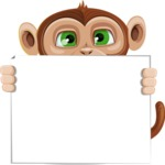 Ape Businessman Cartoon Vector Character AKA Bizzo - Sign 5