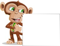 Ape Businessman Cartoon Vector Character AKA Bizzo - Sign 8