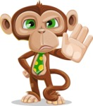 Ape Businessman Cartoon Vector Character AKA Bizzo - Stop 2
