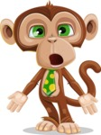 Ape Businessman Cartoon Vector Character AKA Bizzo - Stunned