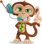 Ape Businessman Cartoon Vector Character AKA Bizzo - Support 2
