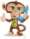 Ape Businessman Cartoon Vector Character AKA Bizzo - Support