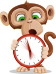 Ape Businessman Cartoon Vector Character AKA Bizzo - Time is Yours