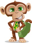 Ape Businessman Cartoon Vector Character AKA Bizzo - Travel 2