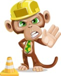 Ape Businessman Cartoon Vector Character AKA Bizzo - Under Construction 1